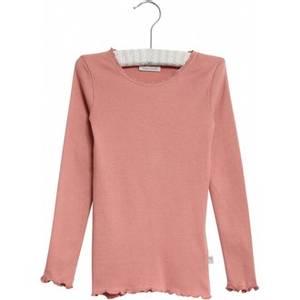 Bilde av Wheat Tshirt Lace, Soft Rouge, langermet genser