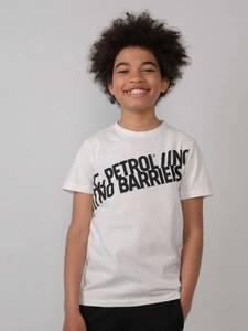 Bilde av Petrol T-Skjorte med tekst, Hvit